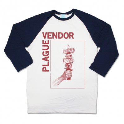plague-vendor - Brewtal Shank Raglan (Navy/White)
