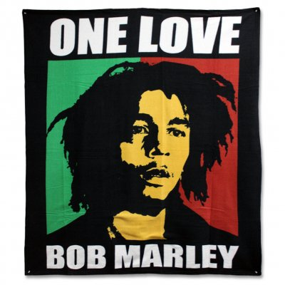 ziggy-marley - Bob Marley - One Love Fleece Blanket