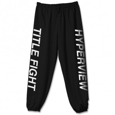 Title Fight - Hyperview Sweat Pants (White Ink)