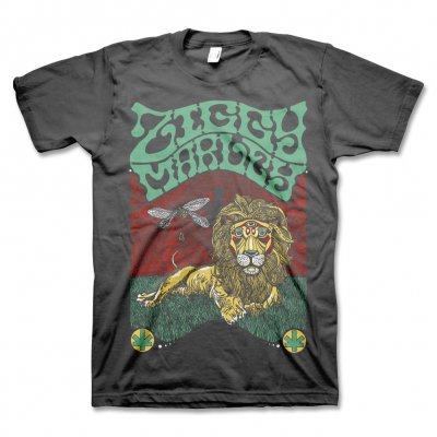 Fly Rasta Lion Tee - (Charcoal)