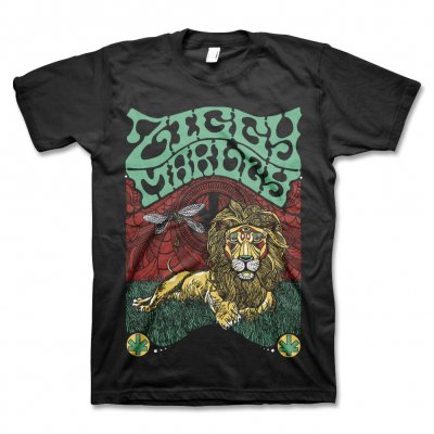 Fly Rasta Lion Tee - (Black)