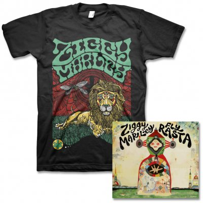 ziggy-marley - Fly Rasta - CD & Fly Rasta Lion Tee (Black)