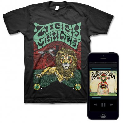 Ziggy Marley - Fly Rasta - Digital Album & Fly Rasta Lion Tee (Black)