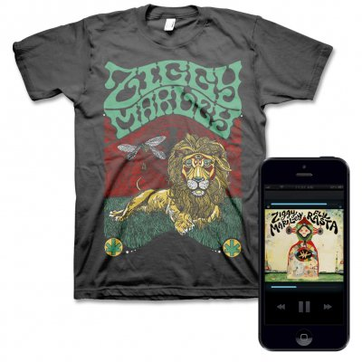 ziggy-marley - Fly Rasta - Digital Album & Fly Rasta Lion Tee (Charcoal)