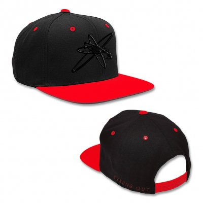 strung-out - Astrolux Snapback Hat (Black/Red)