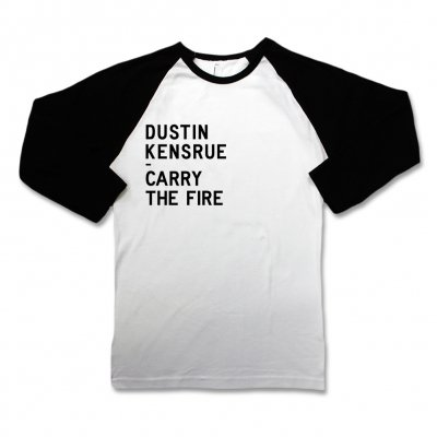 dustin-kensrue - Carry The Fire Raglan (Black/White)