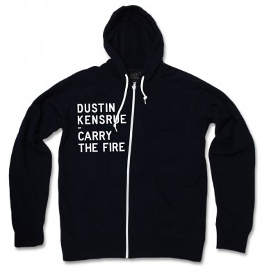dustin-kensrue - Carry The Fire Zip Up Sweatshirt (Black)