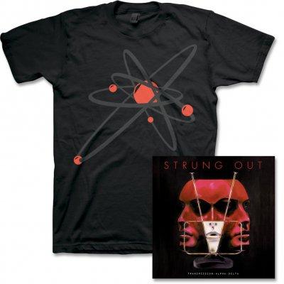 Strung Out - Transmission.Alpha.Delta CD & Black/Red Atrolux Tee