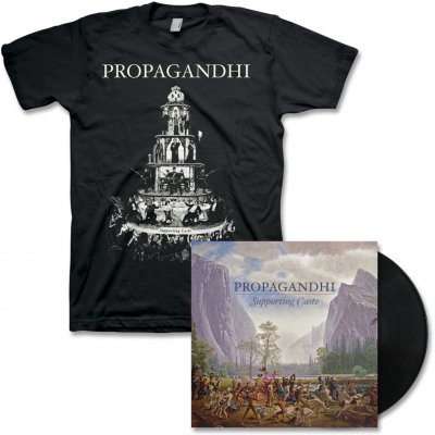 propagandhi - Supporting Caste (Reissue) LP - Black & Tee