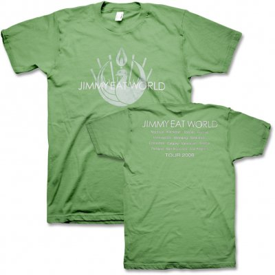 Jimmy Eat World - 2008 Tour T-Shirt (Green)