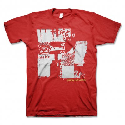 Jimmy Eat World - Clarity Collage T-Shirt (Red) - Men's