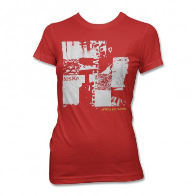 Jimmy Eat World - Clarity Collage T-Shirt (Red) - Women's
