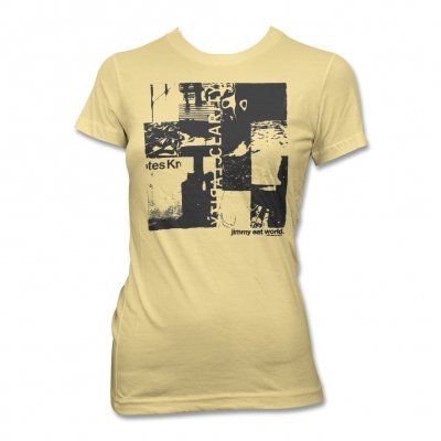Jimmy Eat World - Clarity Collage T-Shirt (Yellow) - Women's