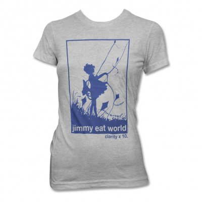Jimmy Eat World - Clarity Kite T-Shirt (Heather Grey) - Women's