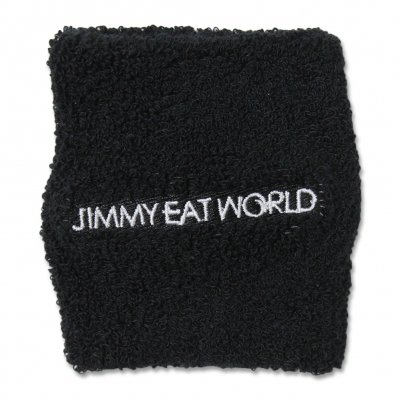 jimmy-eat-world - Jimmy Eat World White Text Sweatband