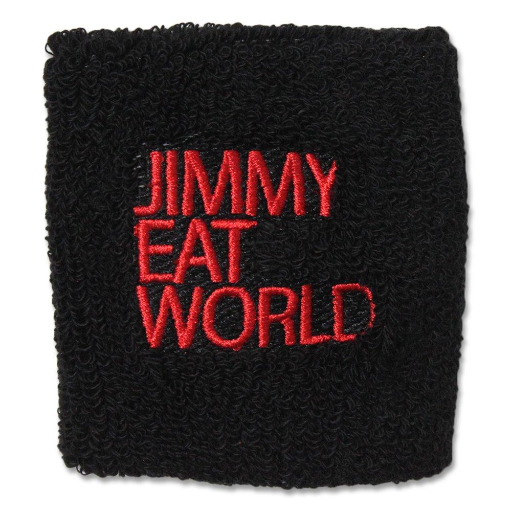 IMAGE   Jimmy Eat World Red Text Sweatband