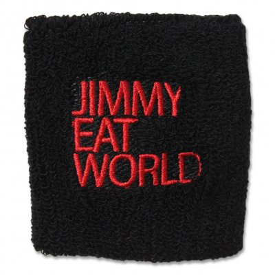jimmy-eat-world - Jimmy Eat World Red Text Sweatband