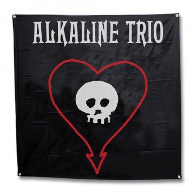 alkaline-trio - Heart Skull Flag