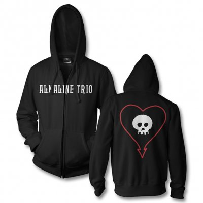 Classic Heartskull Zip-Up Hoodie (Black)