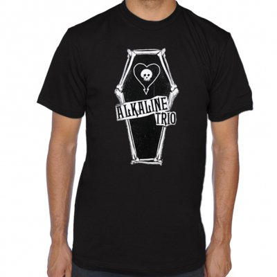 alkaline-trio - Bone Coffin Tee (Black)
