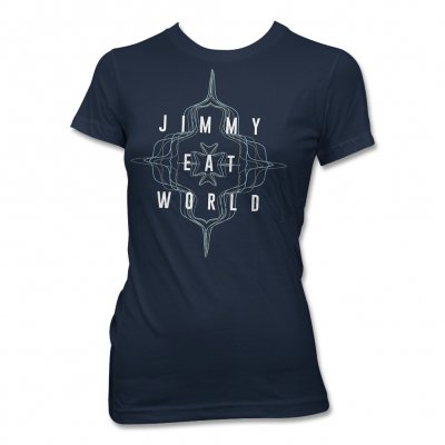 jimmy-eat-world - Flower Wave Tee (Navy) - Women's
