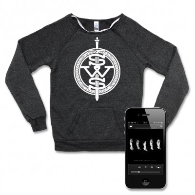 Sleeping with Sirens - White Symbol Sweatshirt (Heather) - Women's