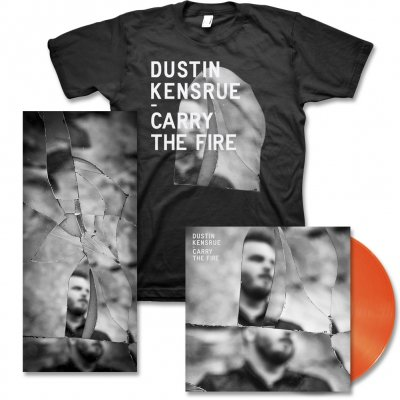 dustin-kensrue - Carry The Fire LP (Orange) & Album Tee & Signed Lithograph
