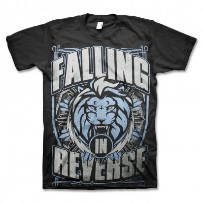 Falling In Reverse - Blue Lion Shield Tee (Black)