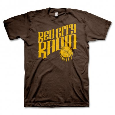 red-city-radio - Red City Radio Logo T-Shirt (Brown)