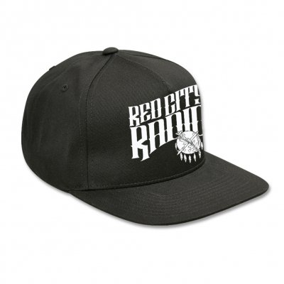 red-city-radio - Red City Radio Snap Back Hat (Black)