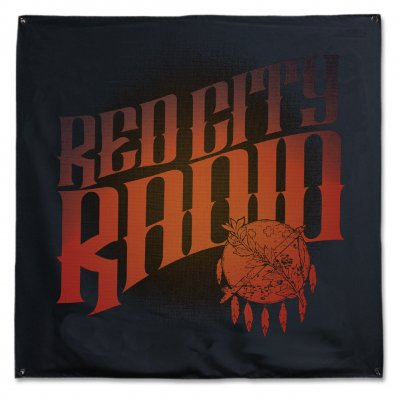 "red-city-radio - Red City Radio Cover Art Flag (48"" x 48"")"