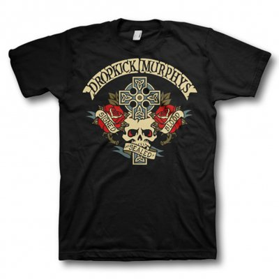 Dropkick Murphys - Signed Cross Tee - Mens