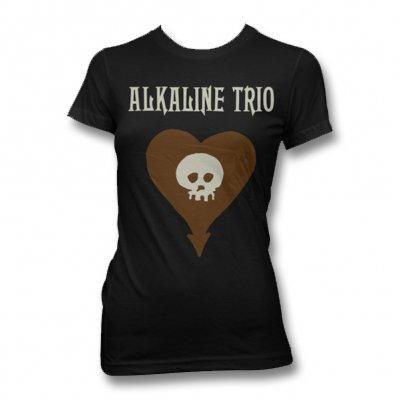 alkaline-trio - Discharge Heartskull Tee - Women's