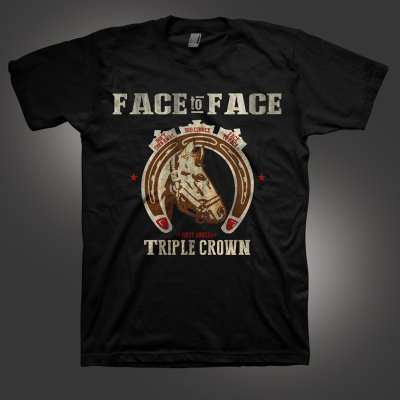 face-to-face - Triple Crown T-Shirt (Black)