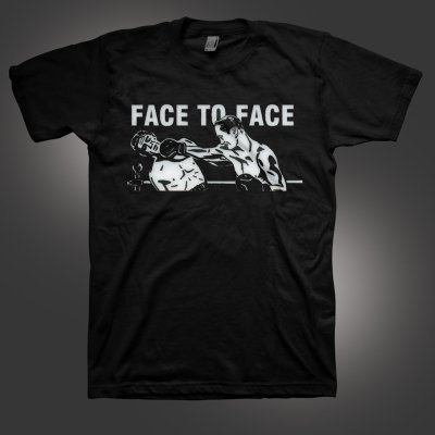 face-to-face - Boxer T-Shirt (Black)