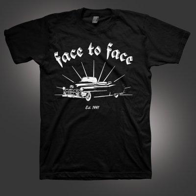 face-to-face - Car Club T-Shirt (Black)