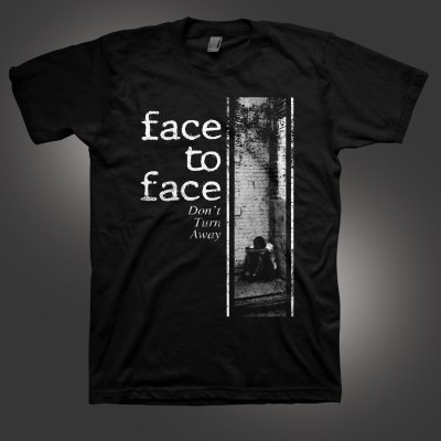 face-to-face - Don't Turn Away T-Shirt (Black)