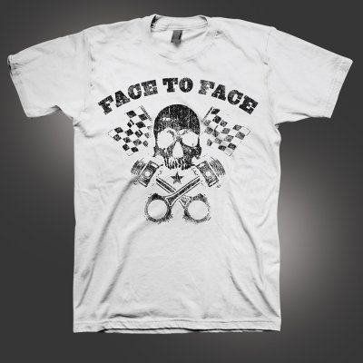 face-to-face - Piston Skull T-Shirt (White)