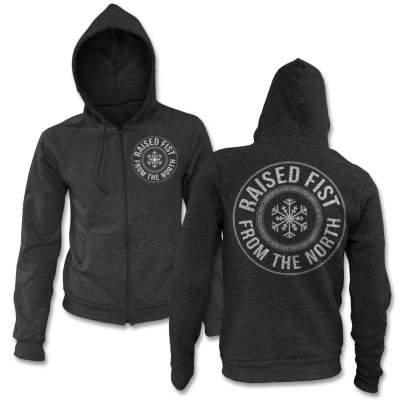 raised-fist - From The North Zip Up Sweatshirt (Heater)