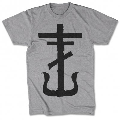 frank-iero - Cross T-Shirt (Heather Grey)