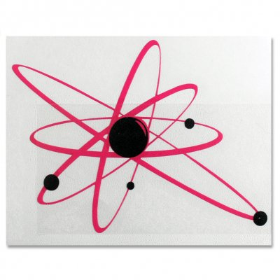 "strung-out - Regular Astrolux Sticker (Pink/Black, 6""x8"")"