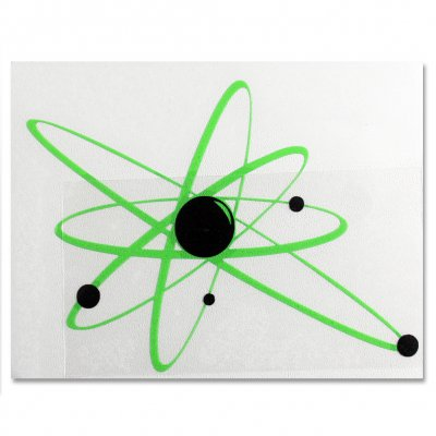 "strung-out - Regular Astrolux Sticker (Green/Black, 6""x8"")"