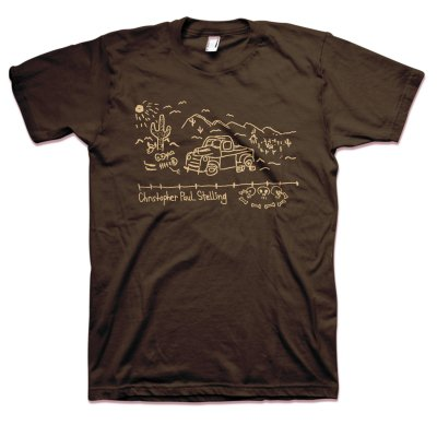 anti-records - Truck T-Shirt (Brown)