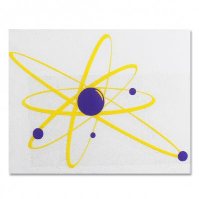 "strung-out - Big Ass Astrolux Sticker (Yellow/Purple, 16""x12"")"