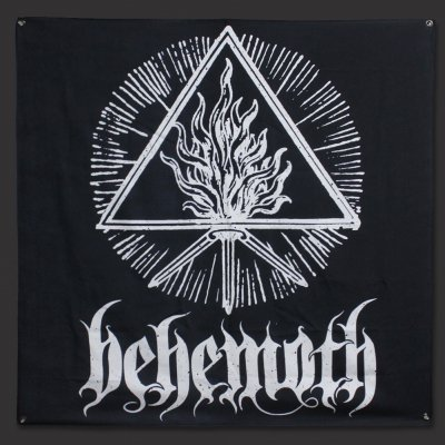"Behemoth - White/Black Sigil Flag (48"" x 48"")"