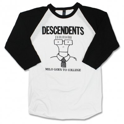 Descendents - Milo Goes To College Raglan (Black/White)