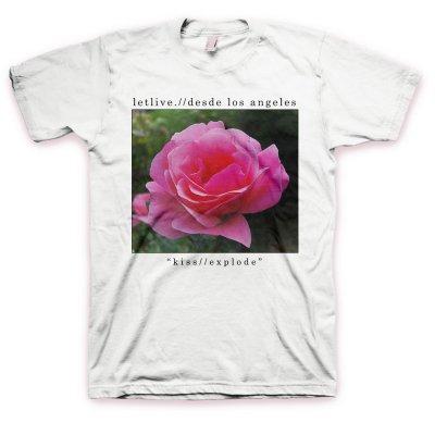 Letlive - Kiss // Explode T-Shirt (White)
