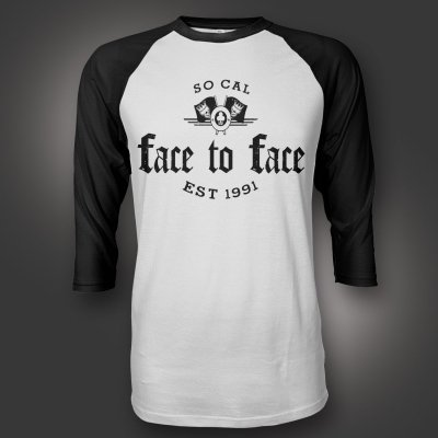 face-to-face - Stonebridge Raglan (Black/White)