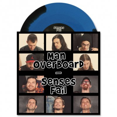 "senses-fail - Man Overboard / Senses Fail Split 7"" (Blue/Black)"