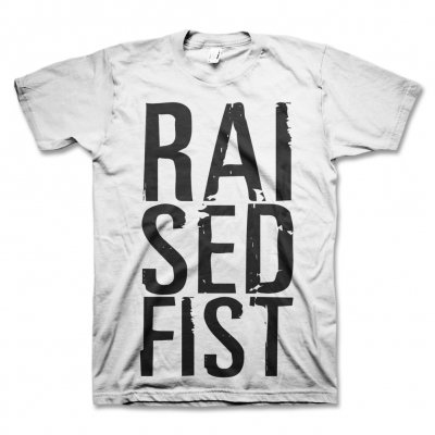 Raised Fist - RAI SED T-Shirt (White)